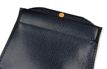 Load image into Gallery viewer, Valextra Milano Coin Wallet/Purse - Navy Blue