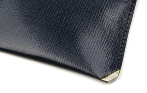 Valextra Milano Coin Wallet/Purse - Navy Blue