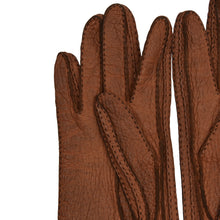 Load image into Gallery viewer, Unlined Peccary Gloves  - Rust Brown