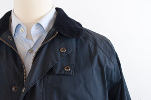 Barbour Lightweight Contemporary Beaufort Waxed Jacket Size L - Blue