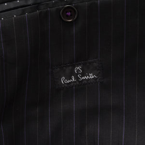 Paul Smith Pinstriped Suit Size 36 - Black