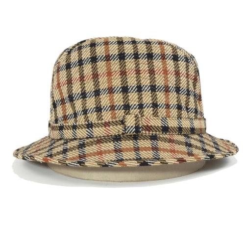 DAKS London Wool Bucket Hat - House Check