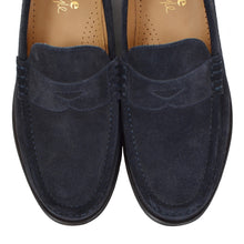 Load image into Gallery viewer, NEW Loake Suede Loafers Size 6F - Navy Blue