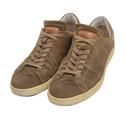 Santoni Leather Sneakers Size 7.5 - Brown