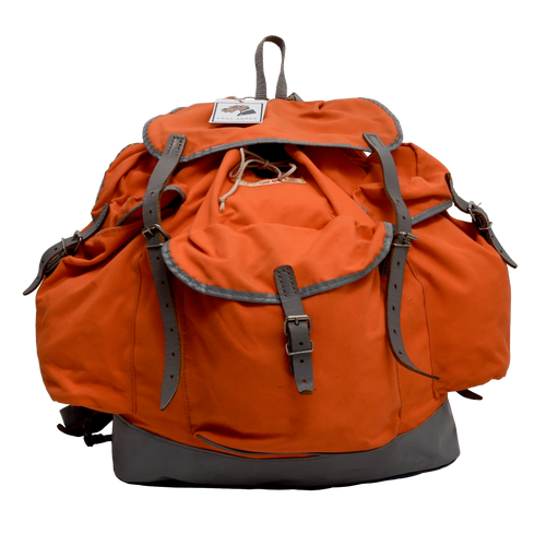 Vintage Essl Canvas Rucksack - Orange