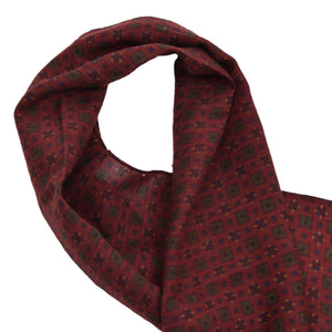 Zenith Cashmere/Wool Dress Scarf- Red