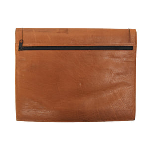 Envelope Style Leather Document Holder/Portfolio - Brown