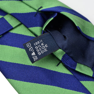 Polo Ralph Lauren Striped Silk Tie - Blue & Green