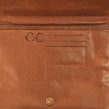 Load image into Gallery viewer, Envelope Style Leather Document Holder/Portfolio - Brown