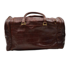 Load image into Gallery viewer, The Bridge Weekender/Duffle Bag - Brown Faux Crocodile