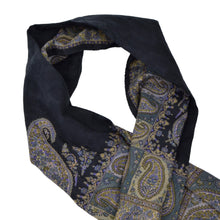 Load image into Gallery viewer, Etro Milano Wool/Cotton/Silk Paisley Scarf - Black