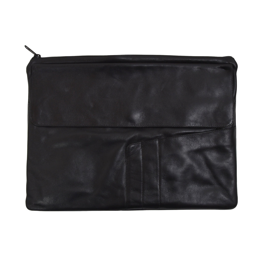 Classic Leather Document Holder - Black