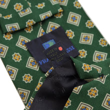 Load image into Gallery viewer, Franco Bassi Printed Silk Tie - Green