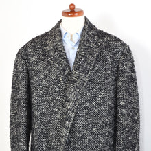 Load image into Gallery viewer, Handmade Belted Holsten Tweed Overcoat - Black & White