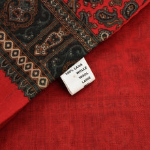 Load image into Gallery viewer, Wool Paisley Dress Scarf - Red