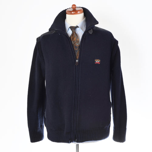 Paul & Shark Yachting Knit Wool Jacket Size M - Navy