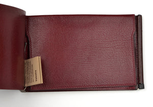 Valextra Milano Double-Sided Wallet with Clips - Burgundy