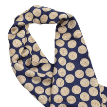 Load image into Gallery viewer, Tassled Silk Dress Scarf - Blue