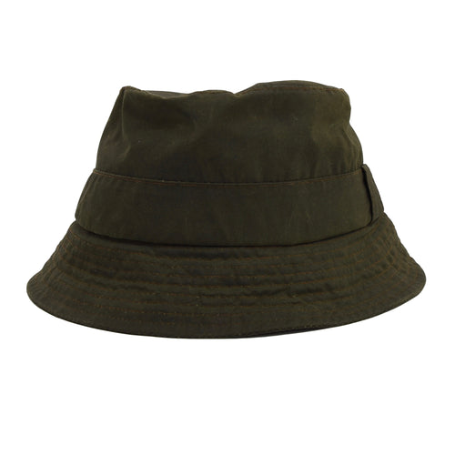 Barbour A115 Waxed Bucket Hat Size L - Sage Green