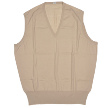 Load image into Gallery viewer, Knize Wien V-Neck Wool Sweater Vest 44 - Sand