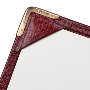 Smythson of Bond Street Small Notepad/Wallet - Burgundy