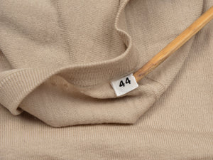 Knize Wien V-Neck Wool Sweater Vest 44 - Sand