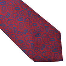 Load image into Gallery viewer, Balenciaga Paisley Silk Tie - Navy & Red