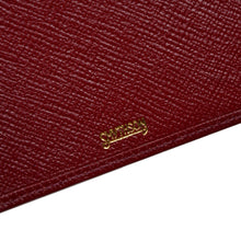 Load image into Gallery viewer, Smythson of Bond Street Small Notepad/Wallet - Burgundy