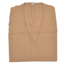 Load image into Gallery viewer, Knize Wien V-Neck Wool Sweater Vest 44 - Tan
