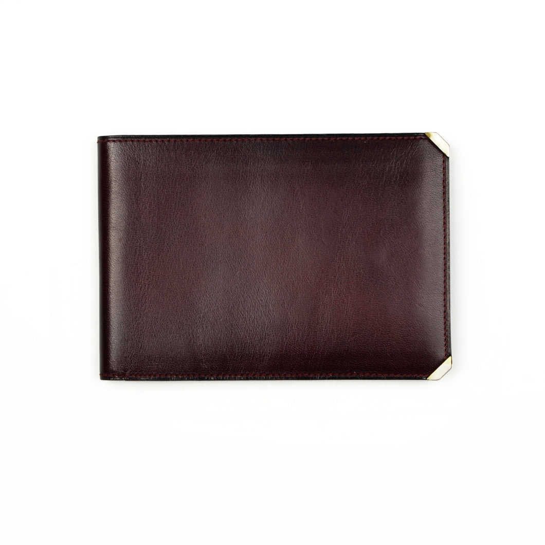 Valextra Milano Wallet/Billfold Document Holder - Burgundy