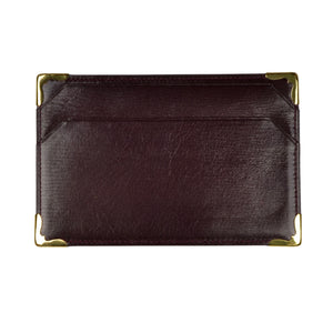Mädler Leather Business Card Wallet - Burgundy
