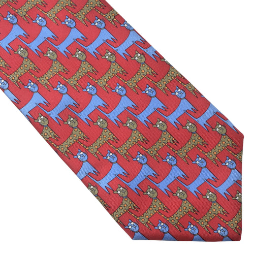 Christian Dior Paris Silk Tie - Cat Print