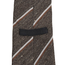 Load image into Gallery viewer, Dunhill London Silk/Linen Tie - Brown Stripes