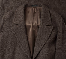 Load image into Gallery viewer, Cavelli Double-Breasted Herringbone Overcoat Size 38 R - Brown