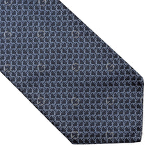 Load image into Gallery viewer, Gucci Chains Silk Tie - Grey/Blue