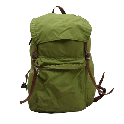 Vintage Nylon Rucksack - Lime Green