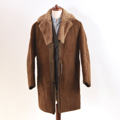 Richard Draper Shearling Coat Size 56 - Brown