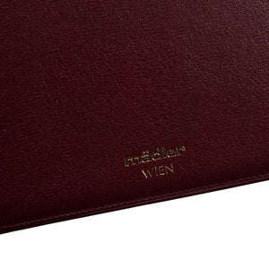 Mädler Small Notepad/Wallet - Burgundy
