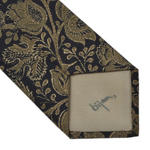 Load image into Gallery viewer, Bijan Beverly Hills Silk Tie - Black Floral