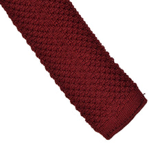 Load image into Gallery viewer, E. Braun & Co. Wien Knit Silk Tie - Burgundy