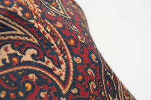Classic Paisley Wool/Silk Dress Scarf - Red/Blue/Green/Yellow