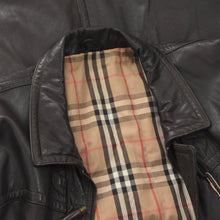 Load image into Gallery viewer, Burberrys Leather Jacket Size 50 - Dark Brown