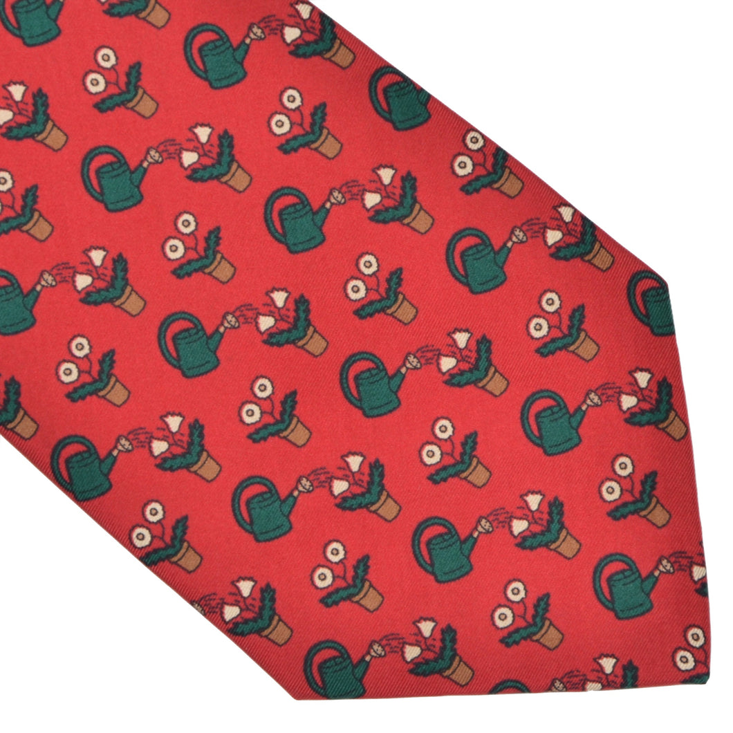 Hermès Paris Silk Tie 7484T-02 - Red