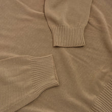 Load image into Gallery viewer, Ermenegildo Zegna Knit Cotton Sweater Size L - Tan