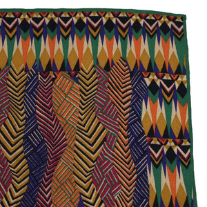 Vintage Missoni Abstract Print Silk Scarf