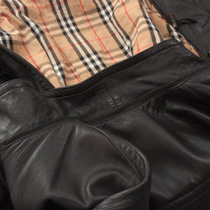 Burberrys Leather Jacket Size 50 - Dark Brown