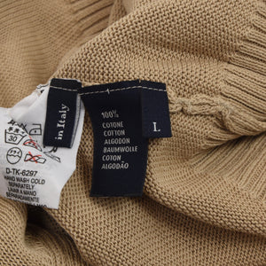 Ermenegildo Zegna Knit Cotton Sweater Size L - Tan