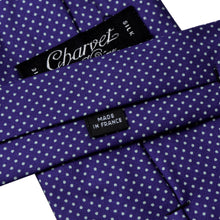 Load image into Gallery viewer, Charvet Pindot Silk Tie - Indigo