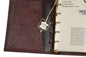 Hetzel Vintage Leather Notebook/Address Book - Brown