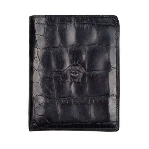 Vintage '90s Gianni Versace Leather Wallet - Black